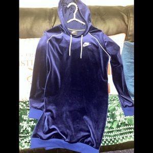 Nike Velour Hooded Dress
